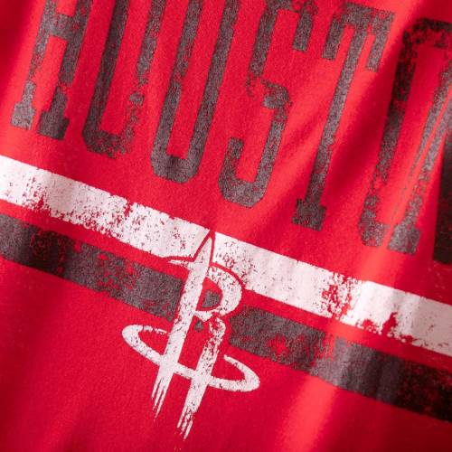 G-III 4HER BY CARL BANKS ヒューストン ロケッツ レディース ネット Tシャツ 赤 レッド レディースファッション トップス カットソー 【 Houston Rockets Womens Nothing But Net Cold Shoulder Scoop Neck T-shirt -