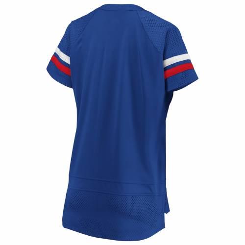 NFL PRO LINE BY FANATICS BRANDED バッファロー ビルズ レディース Tシャツ レディースファッション トップス カットソー 【 Buffalo Bills Fanatics Branded Womens Draft Me Lace Up T-shirt - Royal/red 】 Royal/red