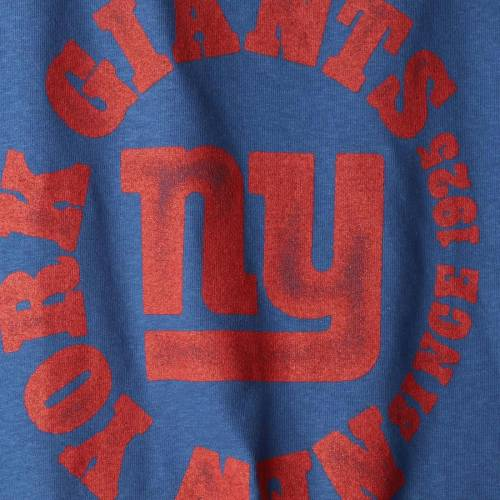 JUNK FOOD ジャイアンツ レディース キック Tシャツ レディースファッション トップス カットソー 【 New York Giants Womens Kick Off Tri-blend T-shirt - Royal 】 Royal