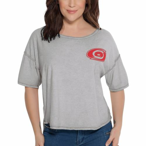 TOUCH BY ALYSSA MILANO カロライナ レディース リバーシブル Tシャツ レディースファッション トップス カットソー 【 Carolina Hurricanes Womens Reversible T-shirt - Gray/white 】 Gray/white