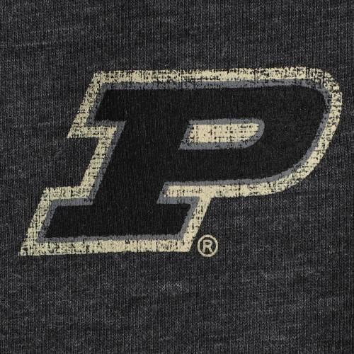 COLOSSEUM レディース ヘンリー Tシャツ 黒 ブラック レディースファッション トップス カットソー 【 Purdue Boilermakers Womens 8 Pound 3/4-sleeve Henley T-shirt - Black 】 Black