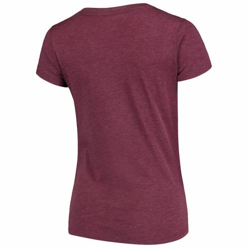 COLOSSEUM テキサス レディース ブイネック Tシャツ レディースファッション トップス カットソー 【 Texas Aandm Aggies Womens Mascot Bold V-neck T-shirt - Maroon 】 Maroon