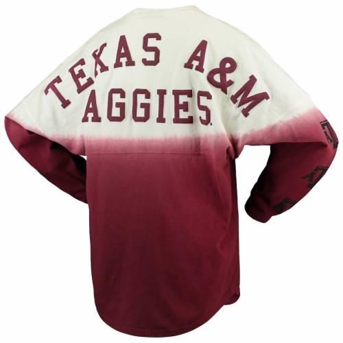 SPIRIT JERSEY テキサス レディース スリーブ ロゴ Tシャツ レディースファッション トップス カットソー 【 Texas Aandm Aggies Womens Sleeve Repeat Logo Long Sleeve T-shirt - Maroon 】 Maroon