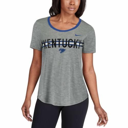 ナイキ NIKE ケンタッキー レディース ストライク パフォーマンス Tシャツ 灰色 グレー グレイ レディースファッション トップス カットソー 【 Kentucky Wildcats Womens Strike Slub Ringer Performance