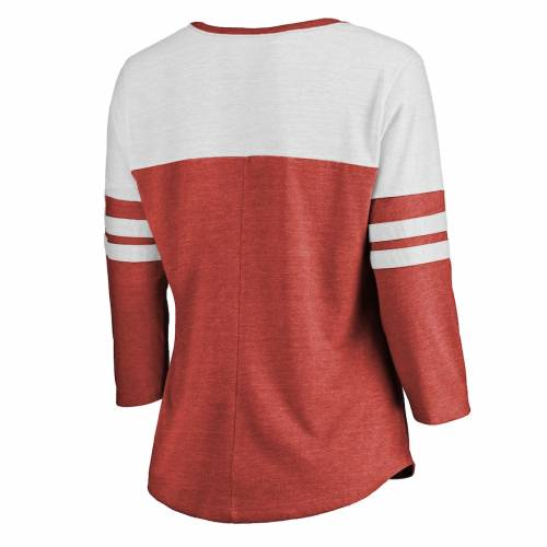 NFL PRO LINE BY FANATICS BRANDED ワシントン レッドスキンズ プロ レディース Tシャツ レディースファッション トップス カットソー 【 Washington Redskins Nfl Pro Line Womens Throwback Two-tone Color Block Tri-bl