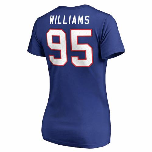 NFL PRO LINE BY FANATICS BRANDED バッファロー ビルズ レディース アイコン Tシャツ レディースファッション トップス カットソー 【 Kyle Williams Buffalo Bills Womens Player Icon Name And Number T-shirt - Royal