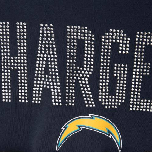 TOUCH BY ALYSSA MILANO チャージャーズ レディース アルティメイト スリーブ ラグラン Tシャツ 紺 ネイビー レディースファッション トップス カットソー 【 Los Angeles Chargers Womens Ultimate Fan 3/4