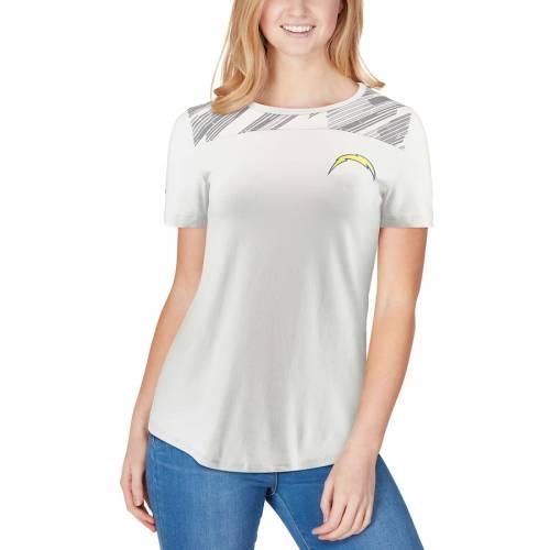 アンダーアーマー UNDER ARMOUR チャージャーズ レディース オーセンティック パフォーマンス Tシャツ 白 ホワイト レディースファッション トップス カットソー 【 Los Angeles Chargers Womens Co