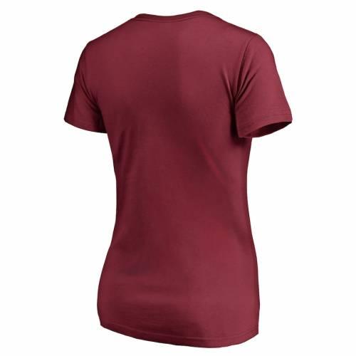 NFL PRO LINE BY FANATICS BRANDED ワシントン レッドスキンズ レディース Tシャツ ワイン色 バーガンディー レディースファッション トップス カットソー 【 Washington Redskins Womens Plus Sizes Nostalgia