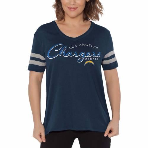 TOUCH BY ALYSSA MILANO チャージャーズ レディース ブイネック Tシャツ 紺 ネイビー レディースファッション トップス カットソー 【 Los Angeles Chargers Womens Triple Play V-neck T-shirt - Navy 】 Navy