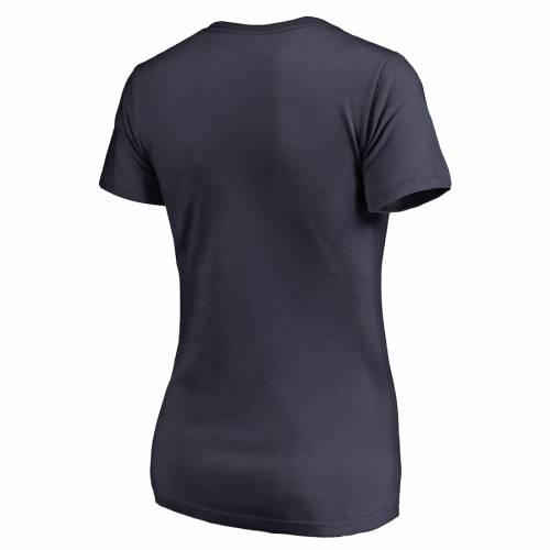 NFL PRO LINE BY FANATICS BRANDED チャージャーズ レディース ブイネック Tシャツ 紺 ネイビー レディースファッション トップス カットソー 【 Los Angeles Chargers Womens Full Back V-neck T-shirt - Navy 】 Na