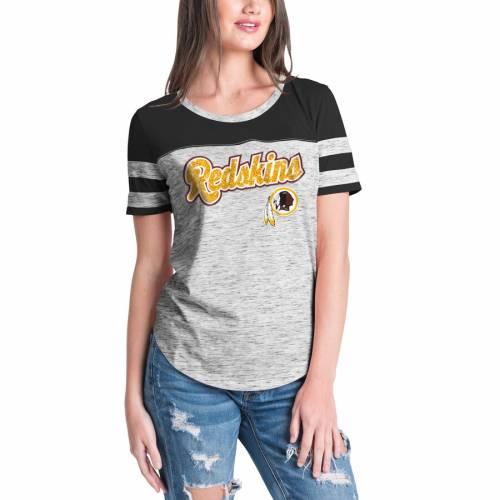 ニューエラ NEW ERA ワシントン レッドスキンズ レディース Tシャツ 黒 ブラック レディースファッション トップス カットソー 【 Washington Redskins Womens Glitter Gel T-shirt - Black 】 Black