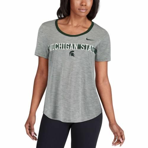 ナイキ NIKE ミシガン スケートボード レディース ストライク パフォーマンス Tシャツ 灰色 グレー グレイ レディースファッション トップス カットソー 【 Michigan State Spartans Womens Strike S