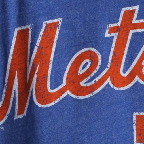 MAJESTIC THREADS ライト メッツ レディース ラグラン Tシャツ レディースファッション トップス カットソー 【 David Wright New York Mets Womens 3/4-sleeve Raglan Name And Number T-shirt - Royal 】 Royal