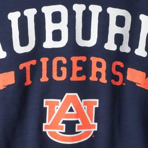 TOUCH BY ALYSSA MILANO タイガース レディース ブイネック Tシャツ 紺 ネイビー レディースファッション トップス カットソー 【 Auburn Tigers Womens Triple Play V-neck T-shirt - Navy 】 Navy