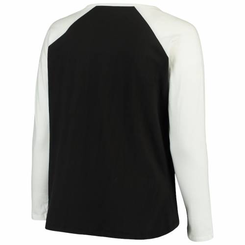 マジェスティック MAJESTIC フィラデルフィア レディース ラグラン スリーブ Tシャツ レディースファッション トップス カットソー 【 Philadelphia Flyers Womens Plus Size Raglan Notch Neck Long Sleeve T-