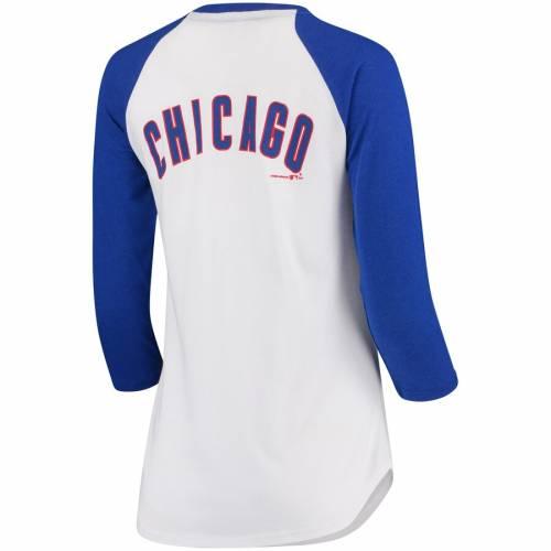 アンダーアーマー UNDER ARMOUR シカゴ カブス レディース ベースボール Tシャツ 白 ホワイト レディースファッション トップス カットソー 【 Chicago Cubs Womens Baseball 3/4-sleeve T-shirt - White 】
