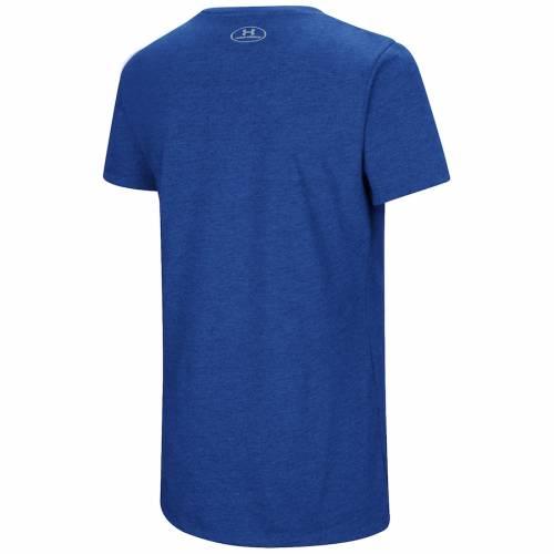 アンダーアーマー UNDER ARMOUR シカゴ カブス レディース ブイネック Tシャツ レディースファッション トップス カットソー 【 Chicago Cubs Womens Chant Tri-blend V-neck T-shirt - Heathered Royal 】 Heather