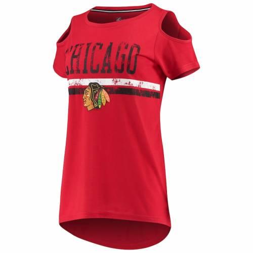 G III 4HER BY CARL BANKS ジースリー シカゴ レディース Tシャツ 赤 レッド WOMEN'SRtCQdshr