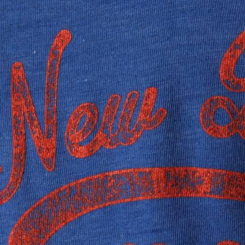 マジェスティック MAJESTIC メッツ レディース ブイネック Tシャツ ヘザー レディースファッション トップス カットソー 【 New York Mets Womens Spirit Awareness V-neck T-shirt - Heather Royal 】 Heather Roy