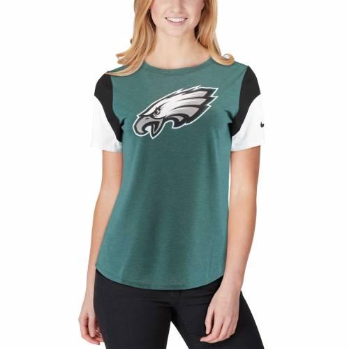 ナイキ NIKE フィラデルフィア イーグルス レディース チーム Tシャツ レディースファッション トップス カットソー 【 Philadelphia Eagles Womens Tri-blend Team Fan T-shirt - Midnight Green/black 】 Midnigh