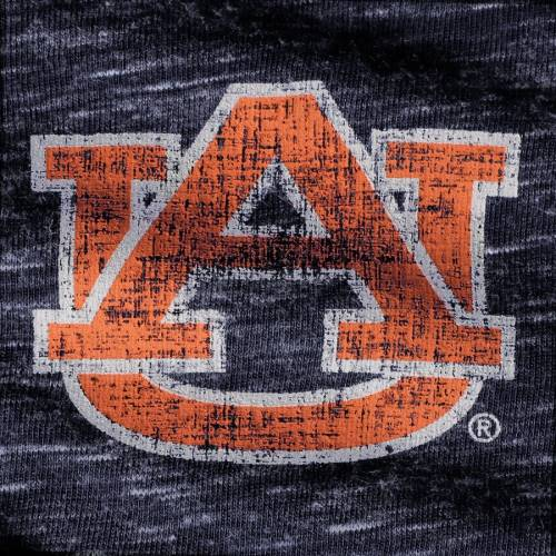 COLOSSEUM タイガース レディース スリーブ ヘンリー Tシャツ 紺 ネイビー レディースファッション トップス カットソー 【 Auburn Tigers Womens Slopsestyle Three-quarter Sleeve Henley T-shirt - Heathered Navy