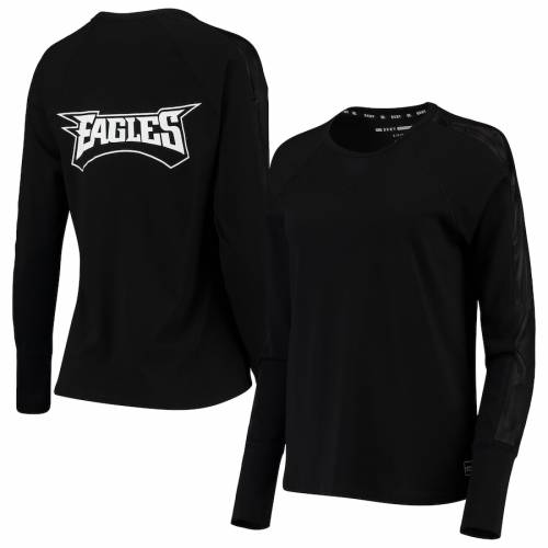 DKNY SPORT フィラデルフィア イーグルス レディース スリーブ Tシャツ 黒 ブラック WOMEN'SSLEEVE BLACK DKNY SPORT PHILADELPHIA EAGLES GABBY MESH LONG TSHIRTレディースファッション トップス Tシャ2DHEI9