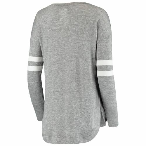 CONCEPTS SPORT シティ レディース スリーブ Tシャツ 灰色 グレー グレイ レディースファッション トップス カットソー 【 New York City Fc Womens Marble Tri-blend Long Sleeve T-shirt - Gray 】 Gray
