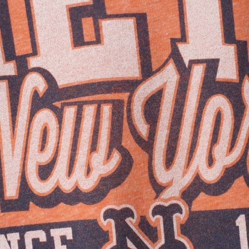 5TH & OCEAN BY NEW ERA メッツ レディース ジャージ Tシャツ レディースファッション トップス カットソー 【 New York Mets 5th And Ocean By New Era Womens Jersey Ringer Tri-blend T-shirt - Orange/royal 】 Orange/r