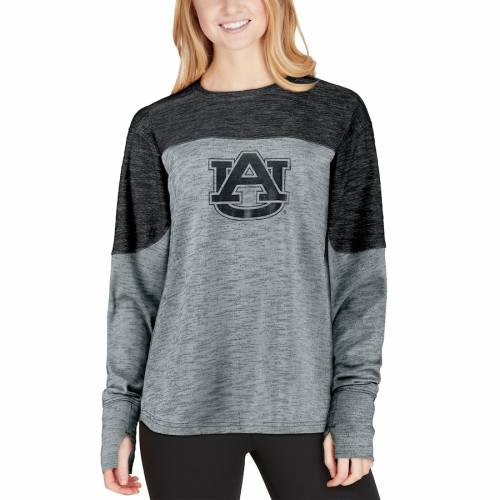 PRESSBOX タイガース レディース スリーブ Tシャツ 紺 ネイビー レディースファッション トップス カットソー 【 Auburn Tigers Womens Fieldman Space Dye Oversized Long Sleeve T-shirt - Navy 】 Navy