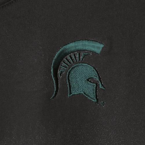 TOMMY BAHAMA ミシガン スケートボード レディース ビクトリー Tシャツ 黒 ブラック レディースファッション トップス カットソー 【 Michigan State Spartans Womens Floral Victory T-shirt - Black 】 Black