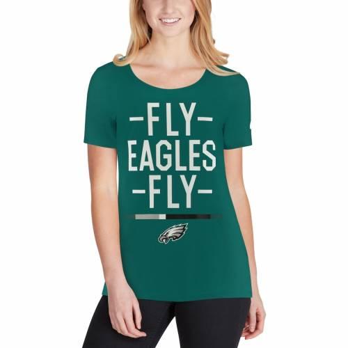 ナイキ NIKE フィラデルフィア イーグルス レディース Tシャツ 緑 グリーン レディースファッション トップス カットソー 【 Philadelphia Eagles Womens Local Spirit T-shirt - Midnight Green 】 Midnight Gre