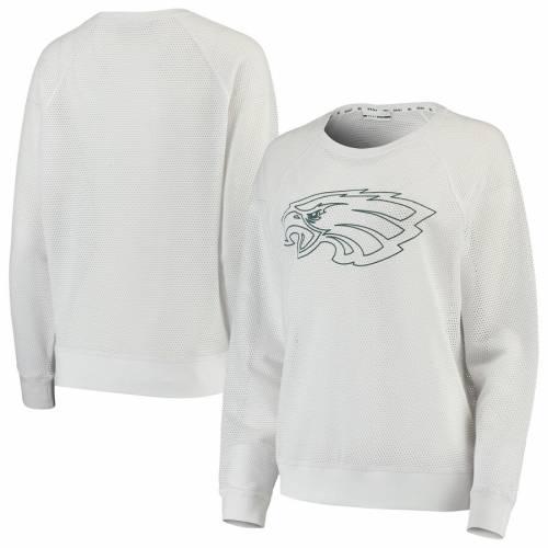 DKNY SPORT フィラデルフィア イーグルス レディース スリーブ Tシャツ 黒 ブラック レディースファッション トップス カットソー 【 Philadelphia Eagles Womens Lauren Mesh Long Sleeve T-shirt - Black 】 W