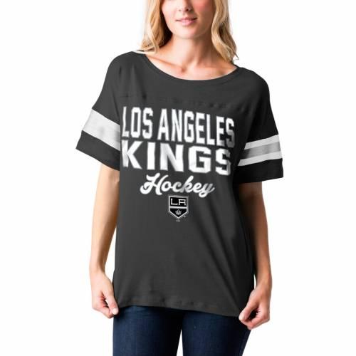 ニューエラ NEW ERA キングス レディース ジャージ Tシャツ 黒 ブラック WOMEN'SKINGS BLACK NEW ERA LOS ANGELES BABY JERSEY TSHIRTレディースファッション トップス Tシャツ カットソーerdCxBoW