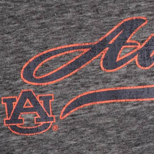 COLOSSEUM タイガース レディース スリーブ Tシャツ 黒 ブラック レディースファッション トップス カットソー 【 Auburn Tigers Womens Bubbilicious Split Neck Long Sleeve T-shirt - Heathered Black 】 Heathered B