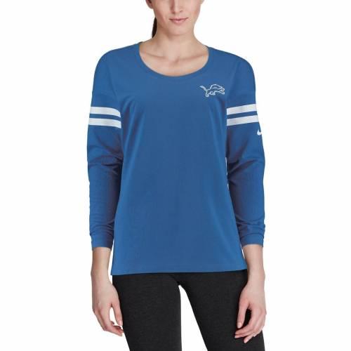 ナイキ NIKE デトロイト ライオンズ レディース スリーブ Tシャツ 青 ブルー レディースファッション トップス カットソー 【 Detroit Lions Womens Tailgate Long Sleeve T-shirt - Blue 】 Blue