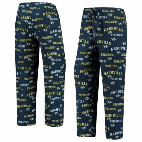 CONCEPTS SPORT 紺 ネイビー インナー 下着 ナイトウエア メンズ ナイト ルーム パジャマ 【 Nashville Predators Fairway All Over Print Lounge Pants - Navy 】 Navy