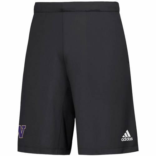 アディダス ADIDAS ワシントン ニット ショーツ ハーフパンツ 黒 ブラック メンズファッション ズボン パンツ メンズ 【 Washington Huskies Gamemode Knit Shorts - Black 】 Black