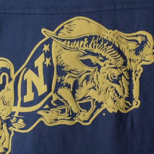 PRESSBOX 紺 ネイビー レディース スリーブ Tシャツ レディースファッション トップス カットソー 【 Navy Midshipmen Womens The Big Shirt Oversized Long Sleeve T-shirt - Navy 】 Navy