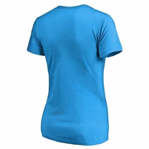 NFL PRO LINE BY FANATICS BRANDED デトロイト ライオンズ レディース スリム ブイネック Tシャツ 青 ブルー レディースファッション トップス カットソー 【 Detroit Lions Womens X-ray Slim Fit V-neck T-shir