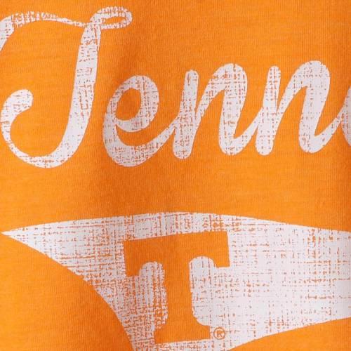 COLOSSEUM テネシー レディース ラグラン ヘンリー スリーブ Tシャツ 橙 オレンジ レディースファッション トップス カットソー 【 Tennessee Volunteers Womens Routine Raglan Henley Long Sleeve T-shirt - Ten
