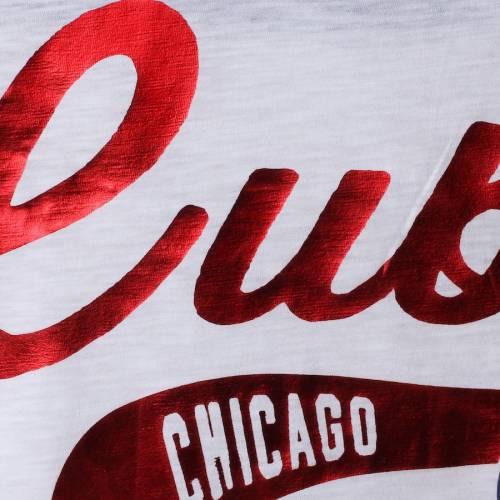 HANDS HIGH シカゴ カブス レディース スリーブ Tシャツ 白 ホワイト レディースファッション トップス カットソー 【 Chicago Cubs Womens Seasons Pass 3/4 Sleeve T-shirt - White 】 White