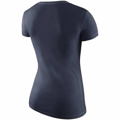 ナイキ NIKE スケートボード ライオンズ レディース ブイネック Tシャツ 紺 ネイビー レディースファッション トップス カットソー 【 Penn State Nittany Lions Womens Wordmark V-neck T-shirt - Navy 】 N