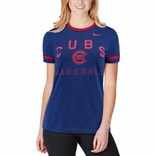 ナイキ NIKE シカゴ カブス レディース パフォーマンス Tシャツ レディースファッション トップス カットソー 【 Chicago Cubs Womens Slub Ringer Performance T-shirt - Royal 】 Royal