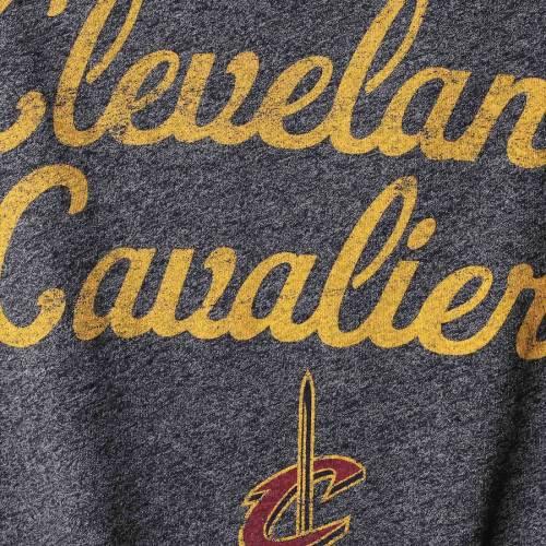 MAJESTIC THREADS クリーブランド キャバリアーズ レディース ラグラン Tシャツ レディースファッション トップス カットソー 【 Cleveland Cavaliers Womens Double Dribble Raglan Tri-blend 3/4-sleeve T-shirt -