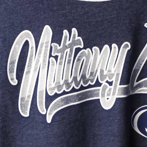 5TH & OCEAN BY NEW ERA スケートボード ライオンズ レディース スクリプト Tシャツ 紺 ネイビー レディースファッション トップス カットソー 【 Penn State Nittany Lions 5th And Ocean By New Era Womens