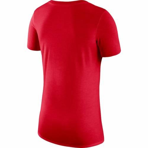 ナイキ NIKE オハイオ スケートボード レディース ブイネック Tシャツ レディースファッション トップス カットソー 【 Ohio State Buckeyes Womens Tri-blend V-neck Mantra T-shirt - Scarlet 】 Scarlet