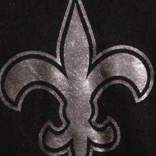 G-III 4HER BY CARL BANKS セインツ レディース ブイネック Tシャツ 黒 ブラック レディースファッション トップス カットソー 【 New Orleans Saints Womens Nfl 100 Fair Catch V-neck T-shirt - Black 】 Black