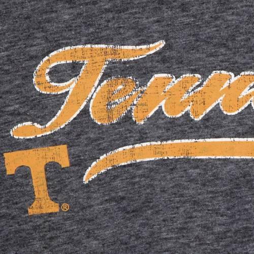 COLOSSEUM テネシー レディース スリーブ Tシャツ 黒 ブラック レディースファッション トップス カットソー 【 Tennessee Volunteers Womens Bubbilicious Split Neck Long Sleeve T-shirt - Heathered Black 】 Heather