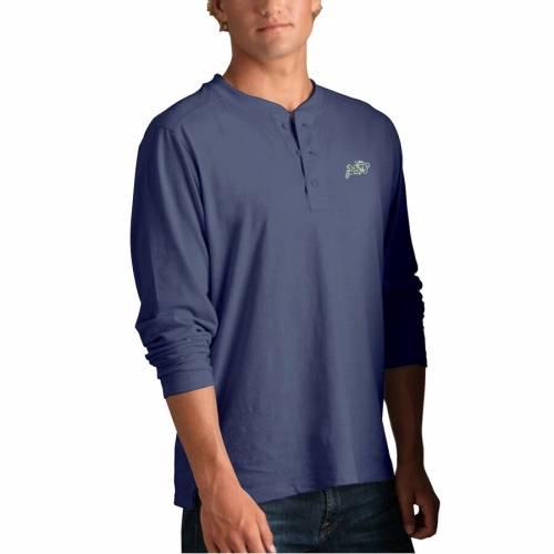 VANTAGE APPAREL 紺 ネイビー ヘンリー Tシャツ 青 ブルー 【 NAVY BLUE VANTAGE APPAREL MIDSHIPMEN CAMBRIDGE HENLEY 3 4SLEEVE TSHIRT 】 メンズファッション トップス Tシャツ カットソー